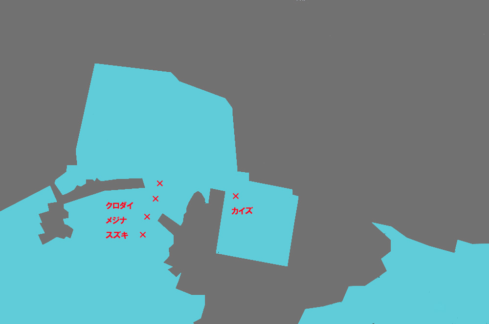 川下港のポイント図