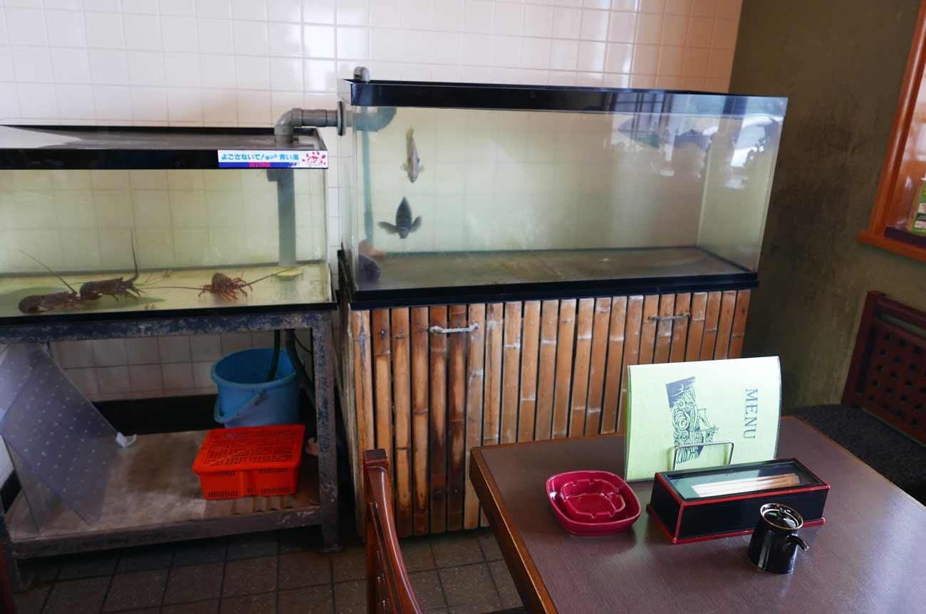 鮨和のカウンターとテーブル席の画像