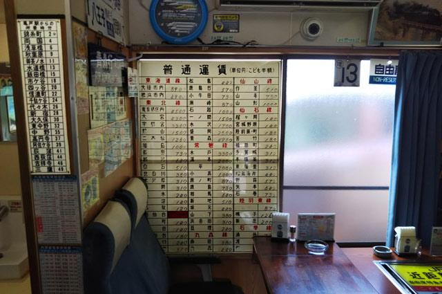 東海道線・東北線・常磐線・丸森線・仙山線・仙石線・陸羽東線・石巻線の運賃