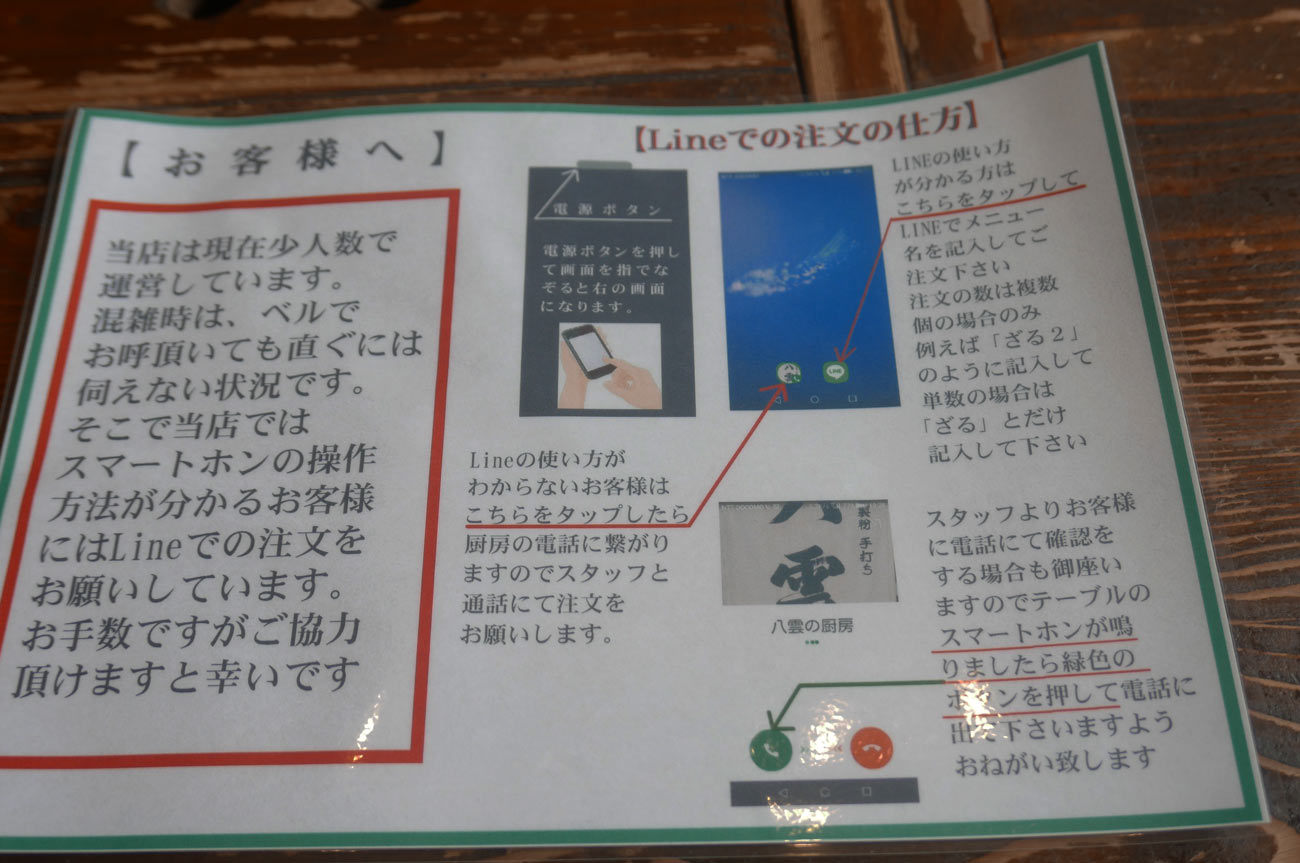 LINEでの注文方法