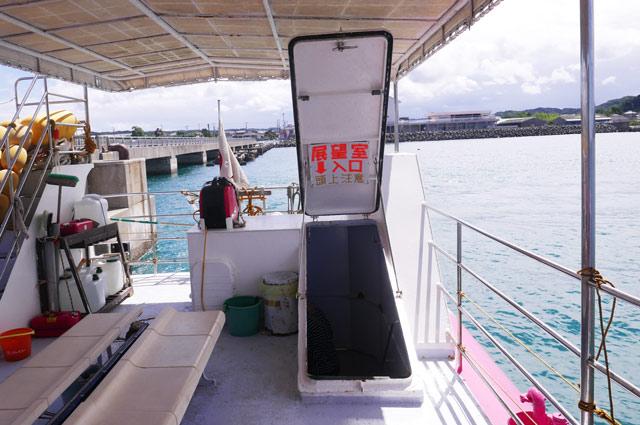 海中展望室の入口
