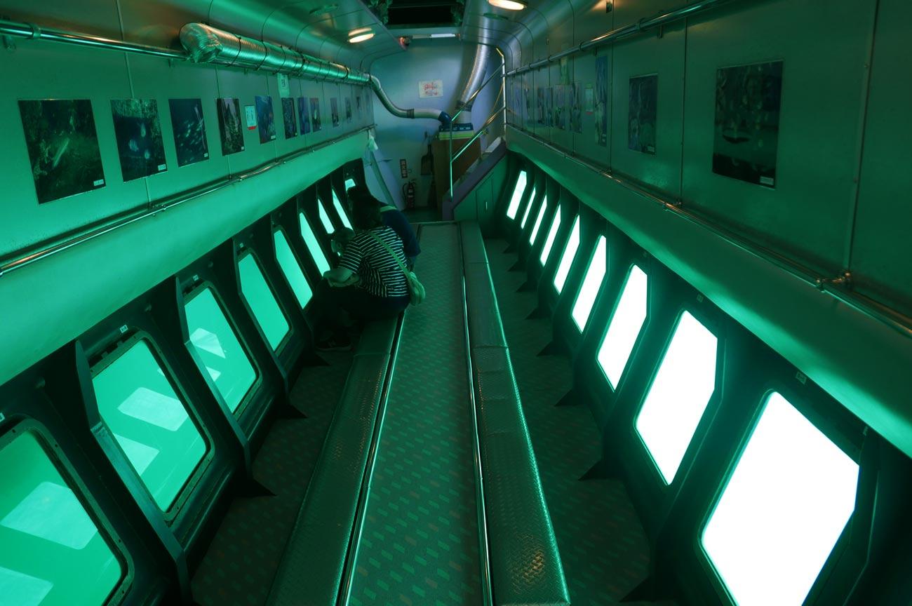 海中展望室の様子
