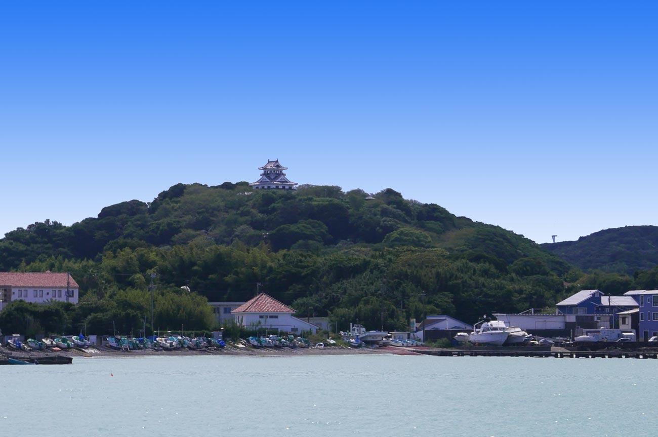 館山海中観光船から見た館山城