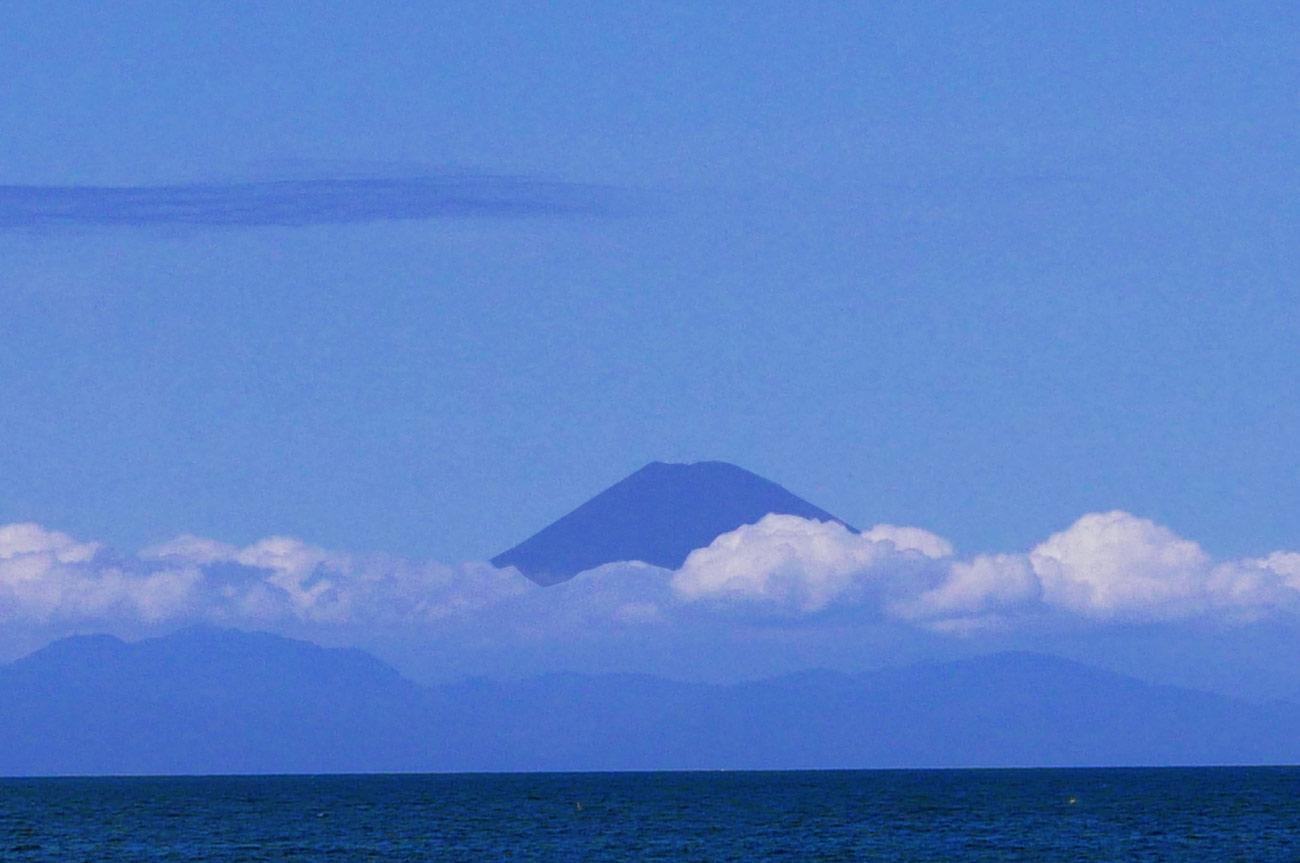 館山海中観光船から見た富士山