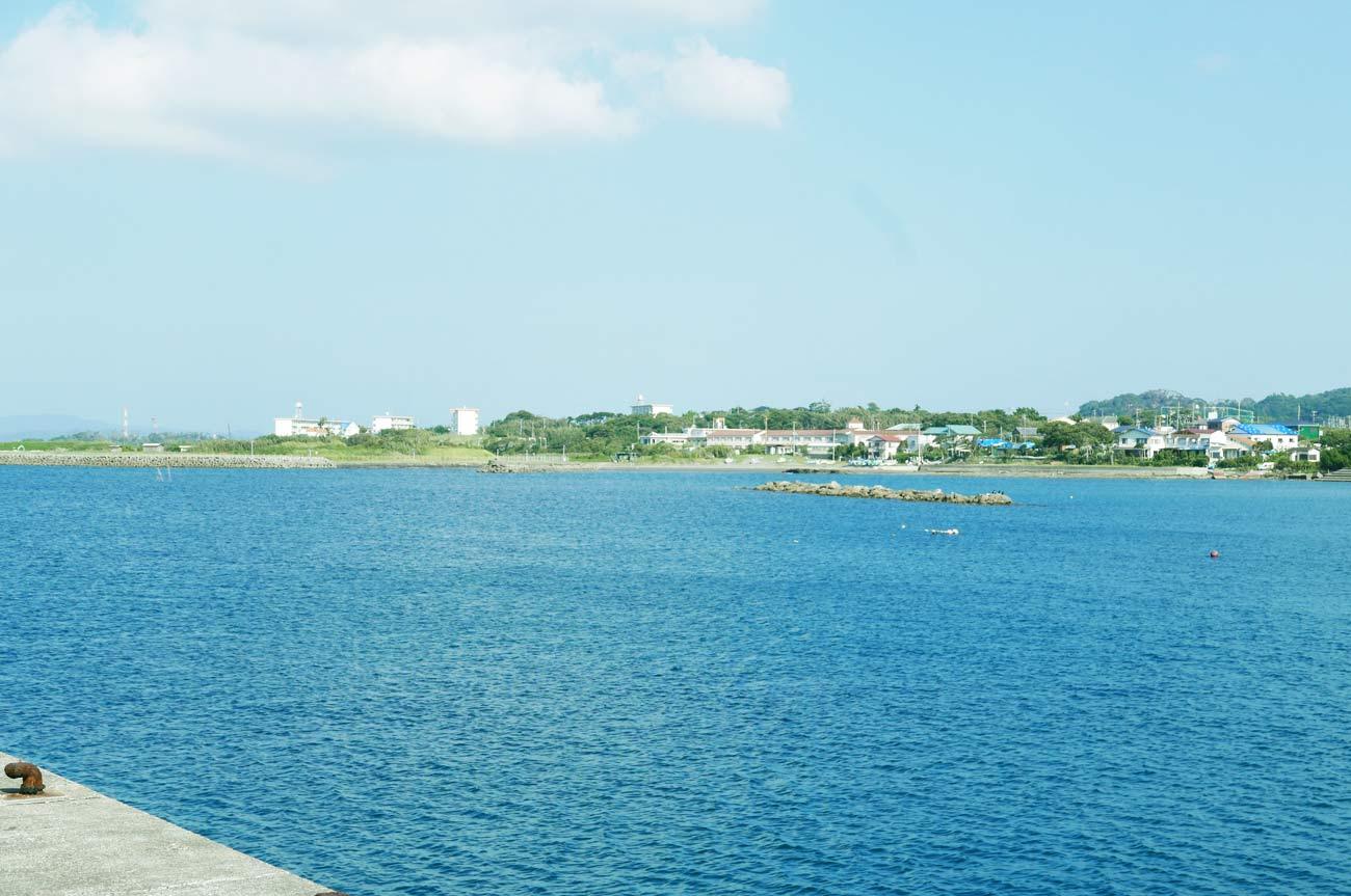 香海岸の全景