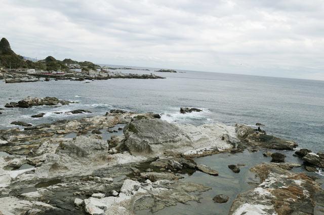 太海磯釣りセンター方面の景観