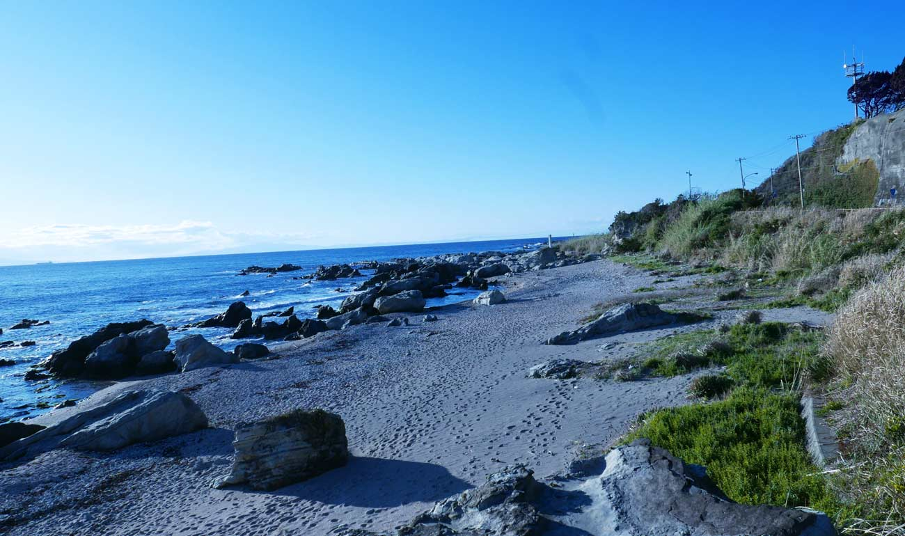 屏風岩周辺の海岸