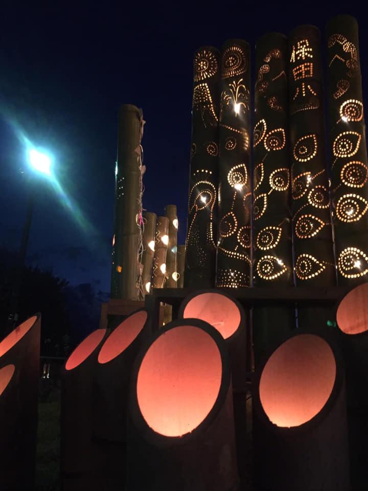 竹灯篭まつりの竹灯篭