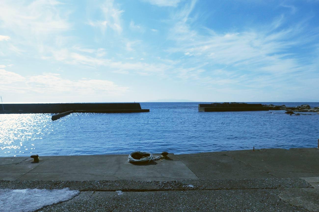 西川名港の全景ポイント