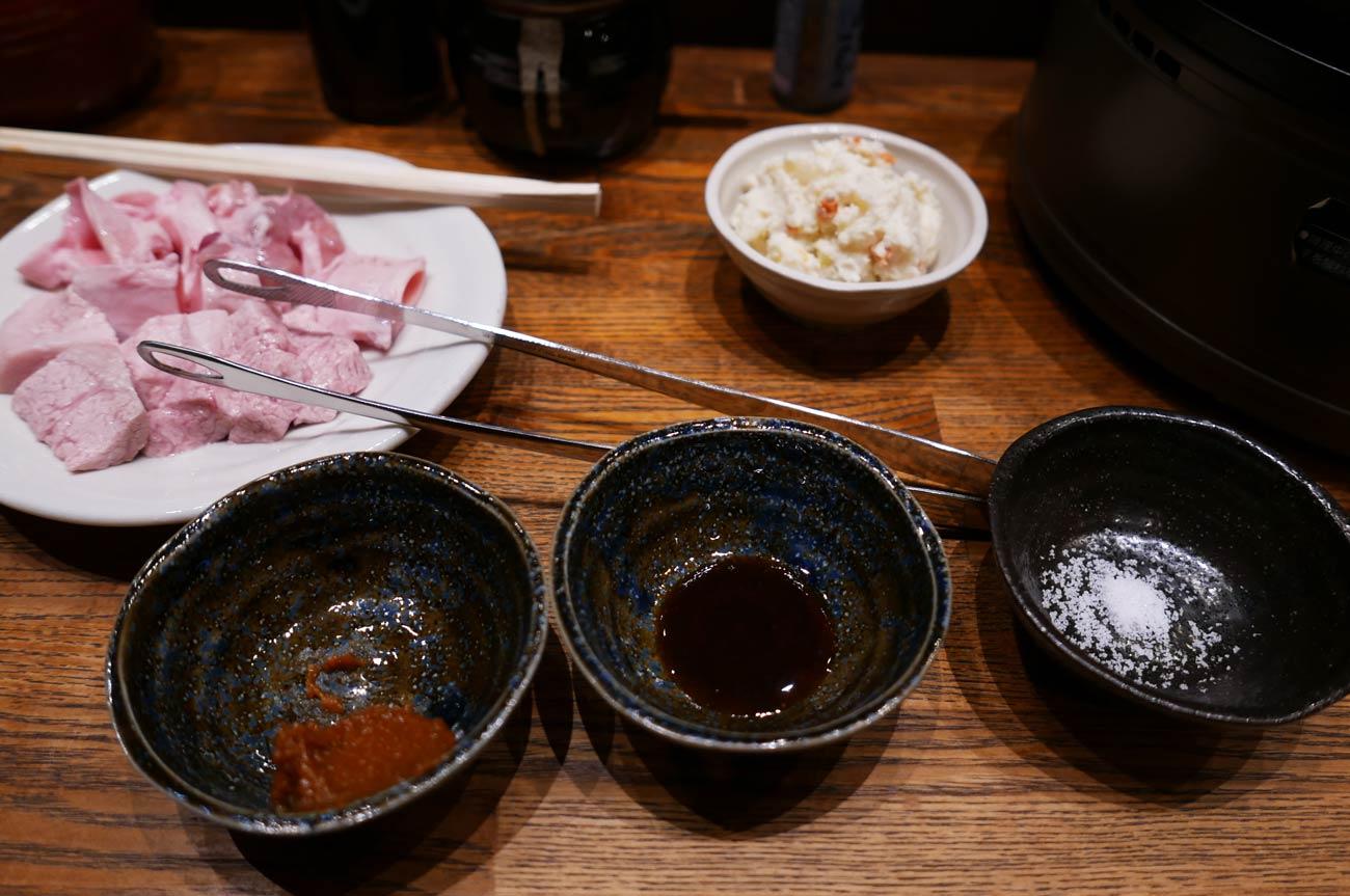 オリジナル味噌、タレ、大島の塩
