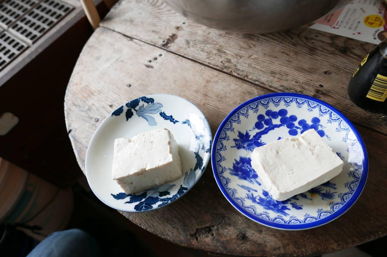 豆腐の試食