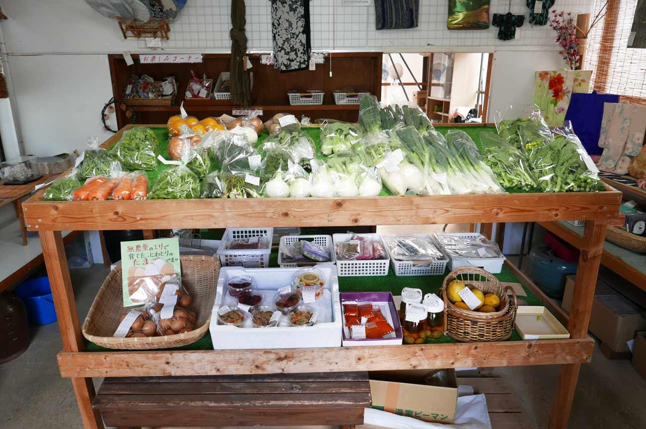地元野菜の販売コーナー