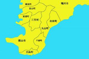 館山市の地図