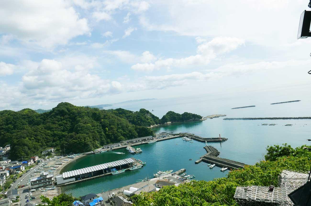 勝山港の風景