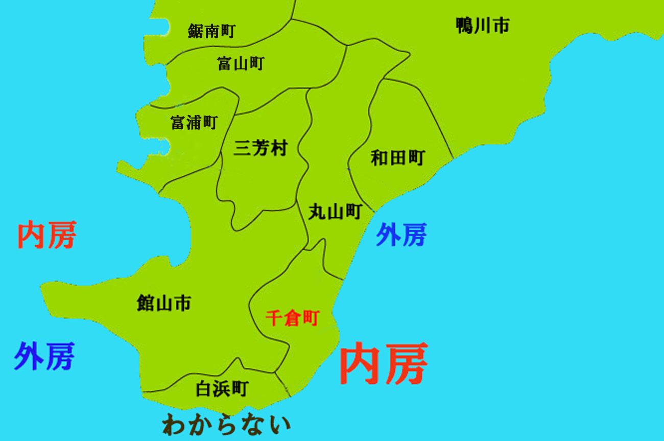 南房総の地図