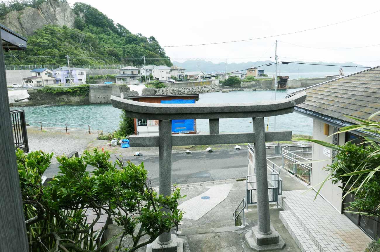 海上神社境内からの眺め