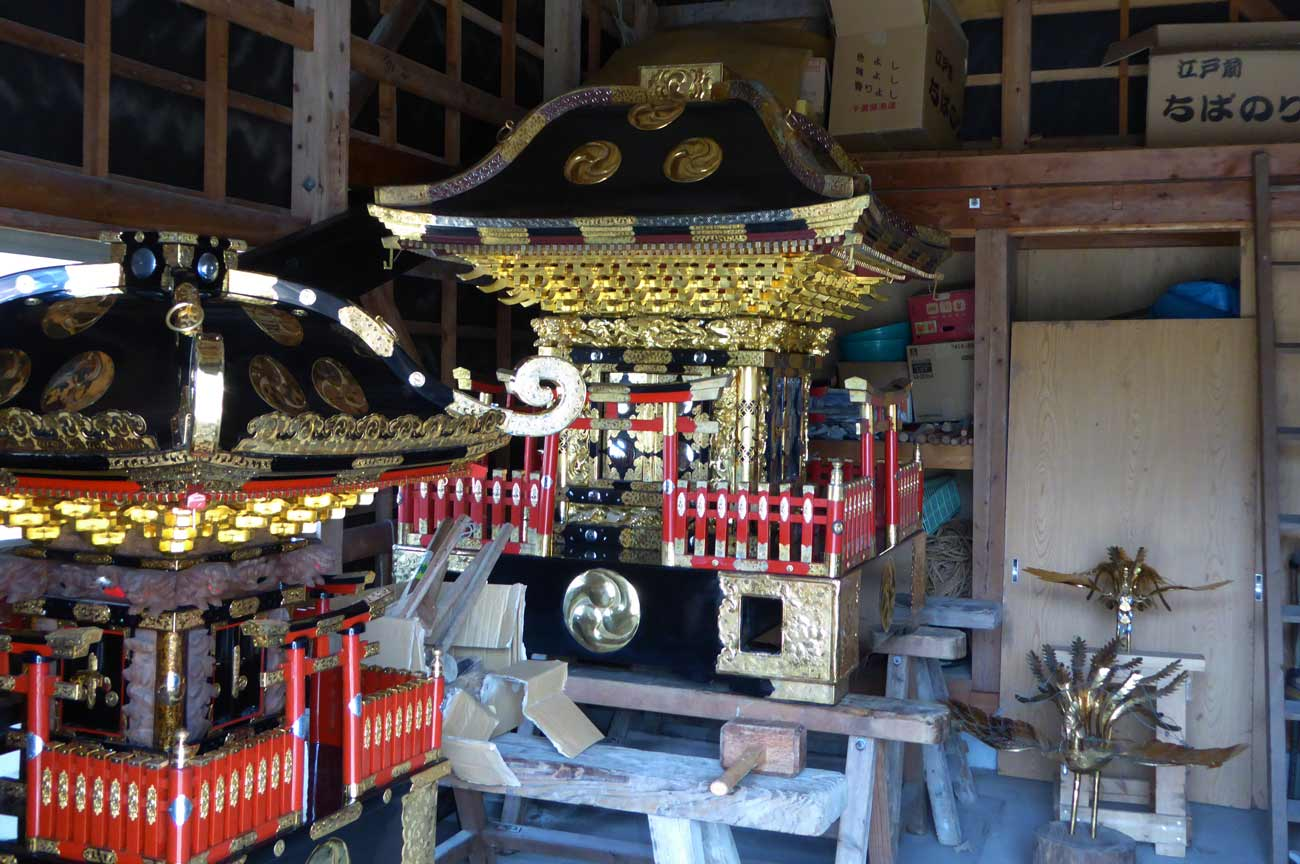 海上神社の子供神輿
