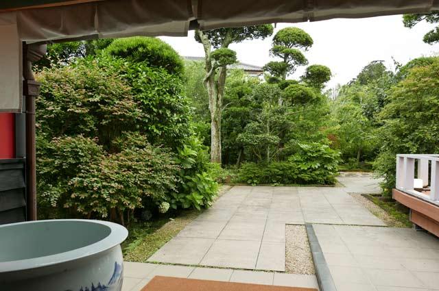 玄関から見た庭園
