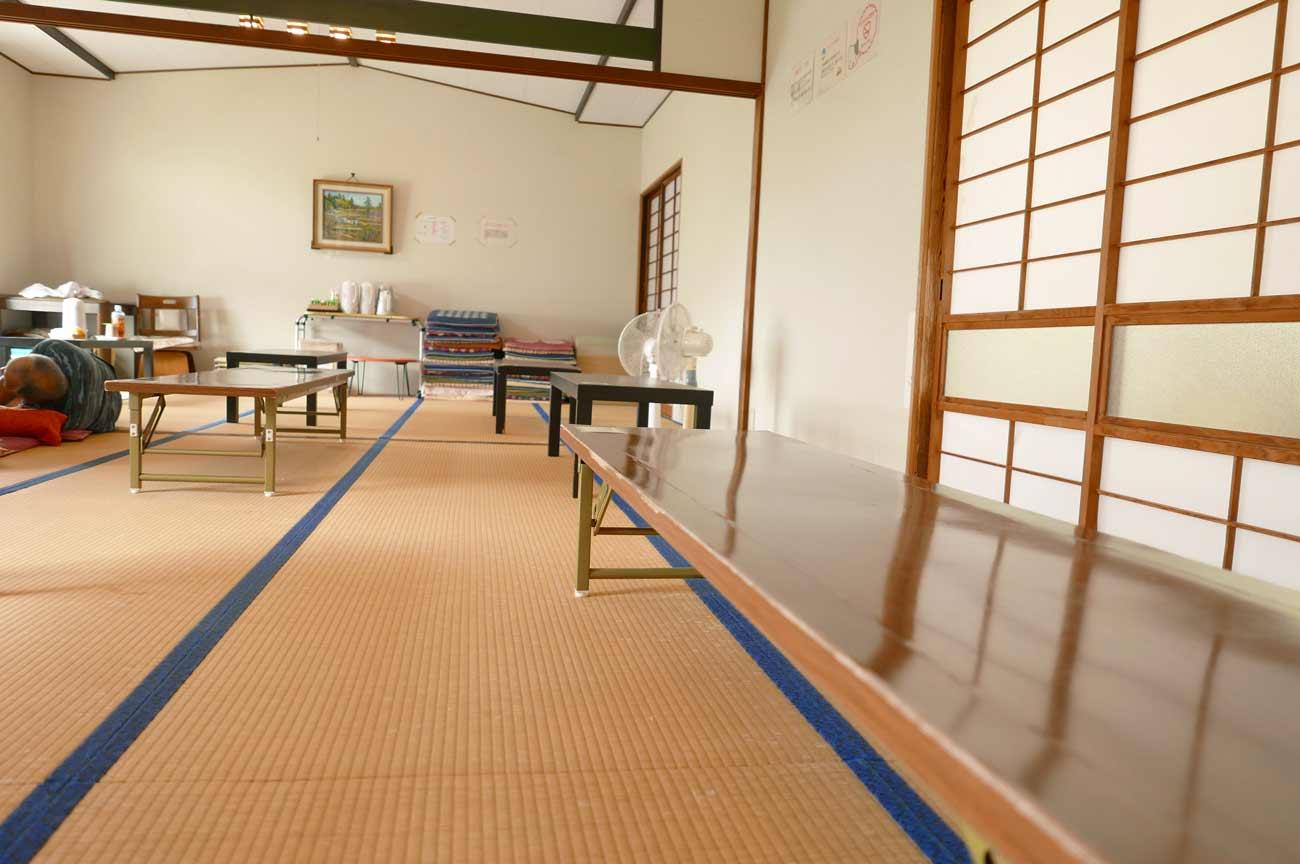 粟斗温泉の休憩所