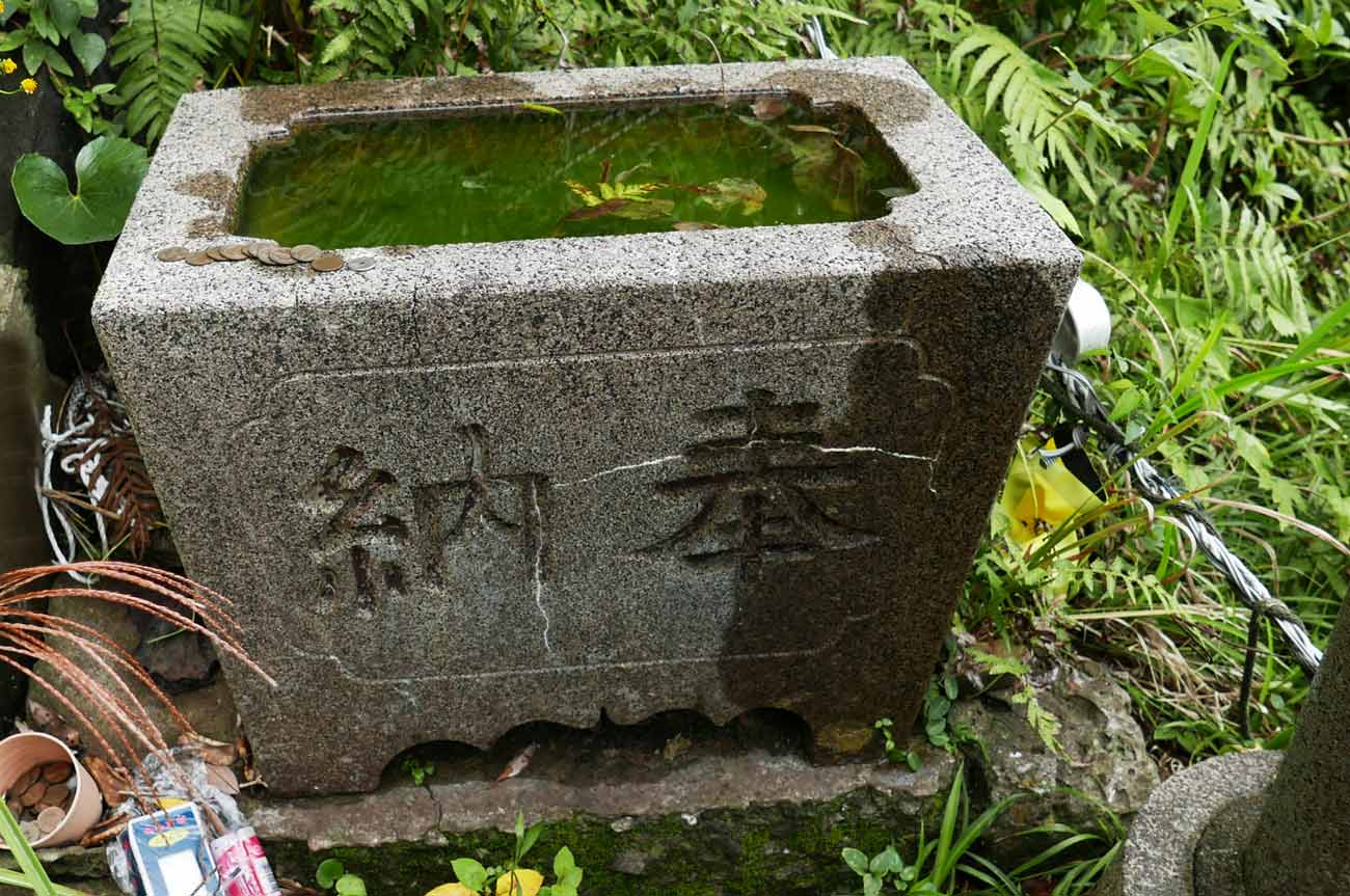 九頭竜神社の手水石