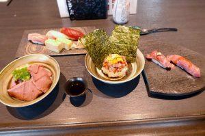 夢みさきのお寿司とお肉のデラックスコラボプラン