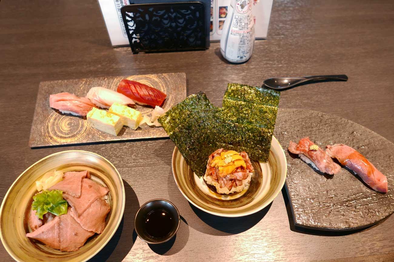 お寿司とお肉のデラックスコラボプラン