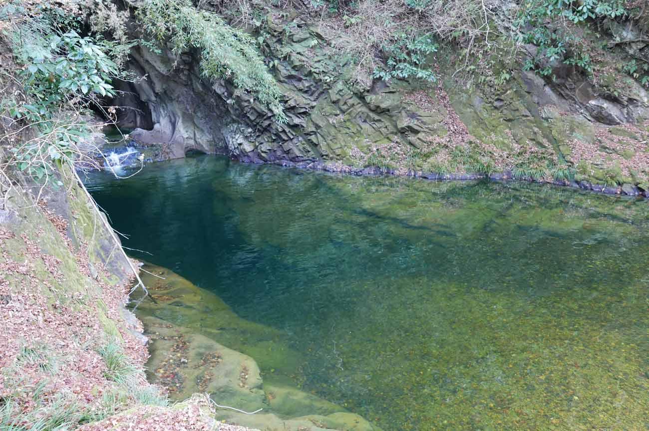 エメラルドグリーンの淵