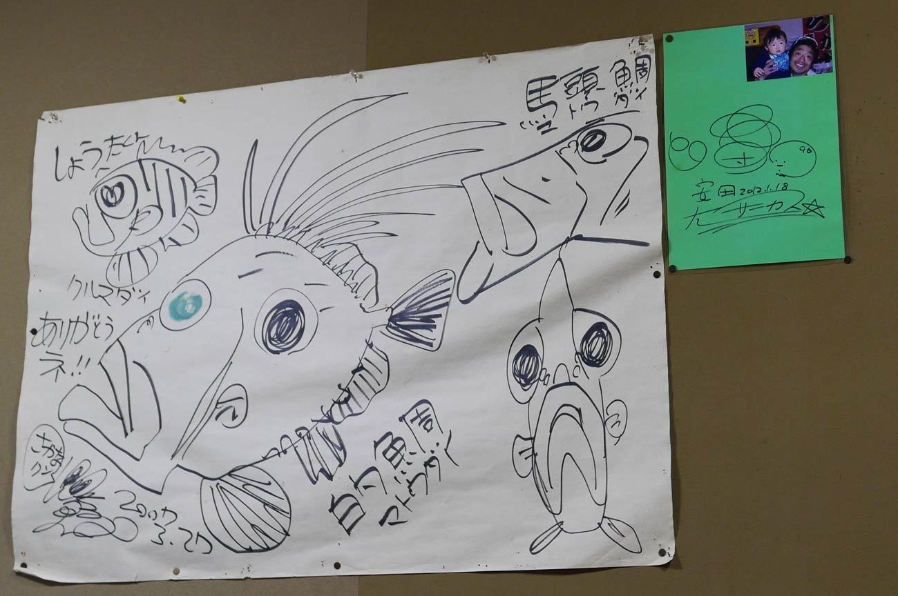 さかなくんが描いたマトウ鯛の絵