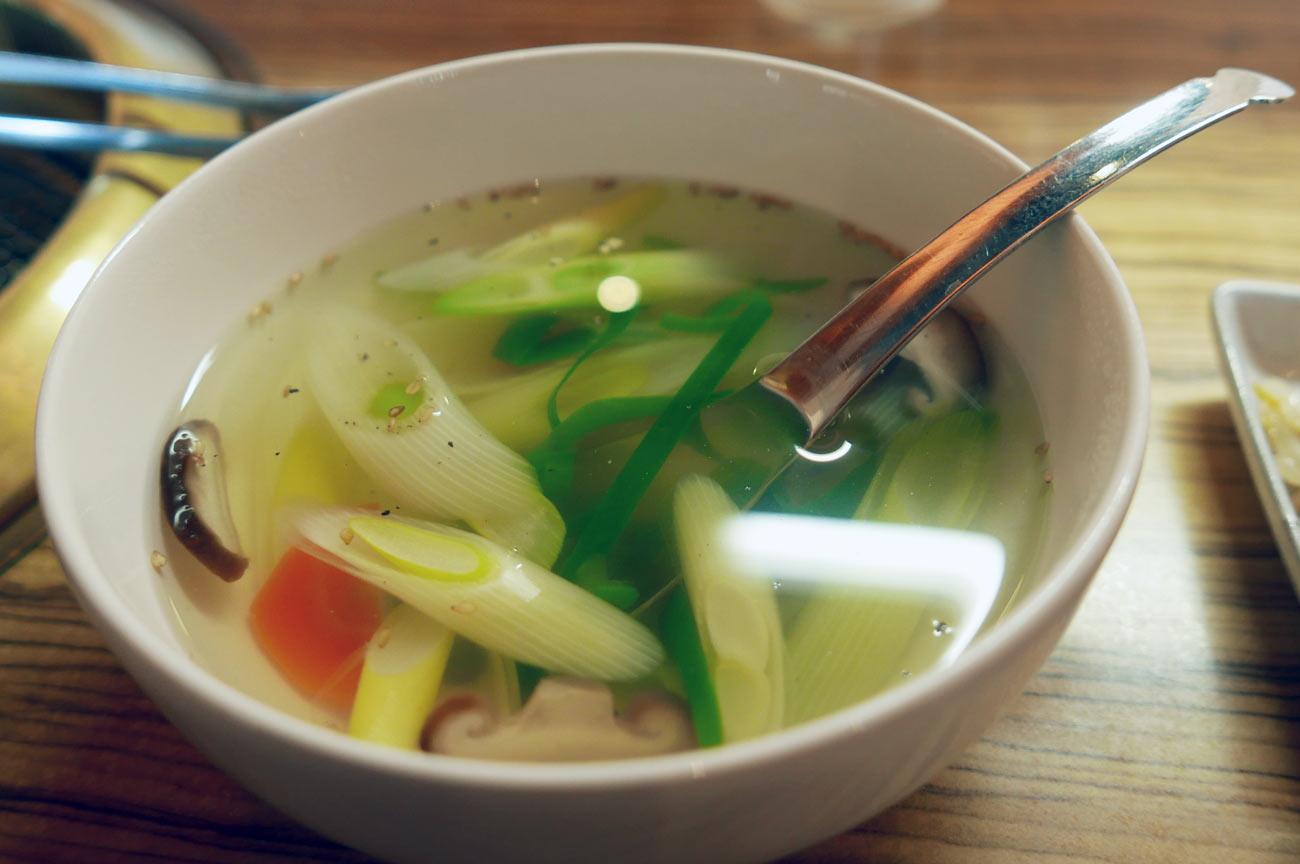 長ネギのスープ