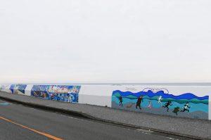 山口マオさんの壁画