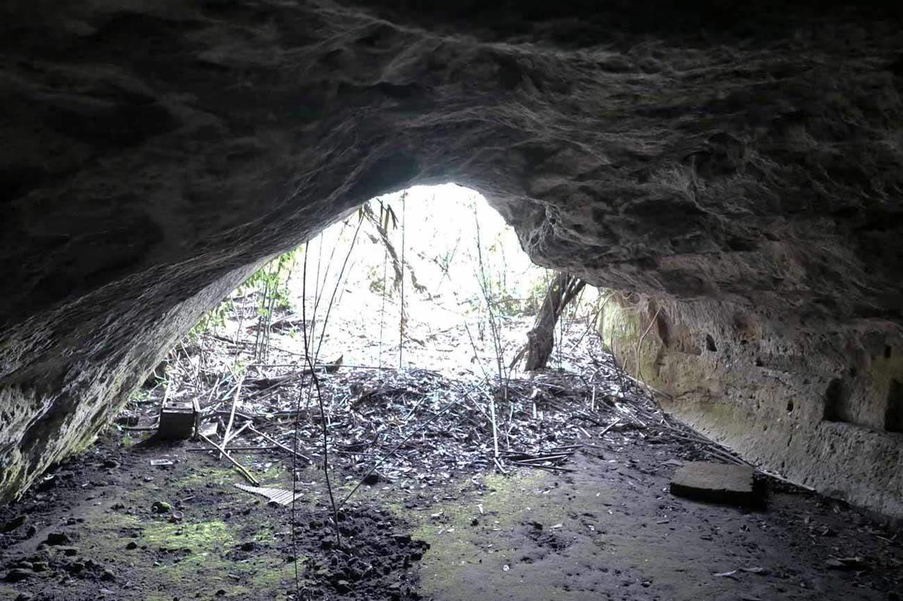 千倉海食洞の内部