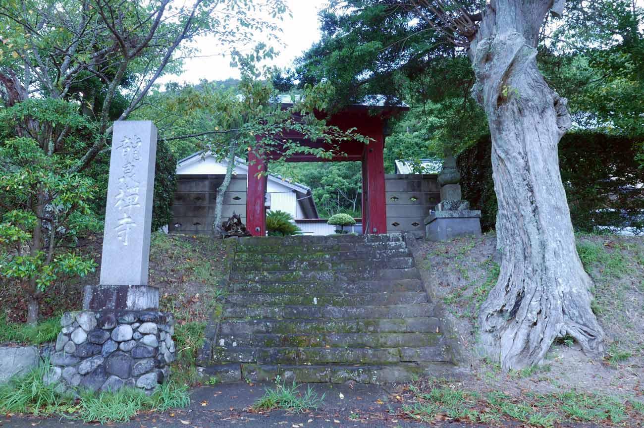 龍泉寺の山門と境内