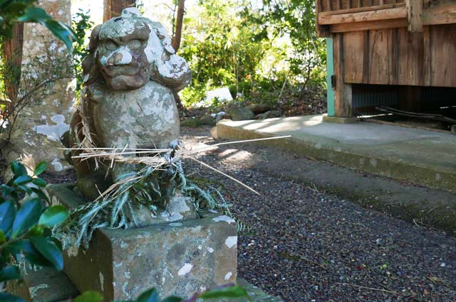 諏訪神社の狛犬(左)