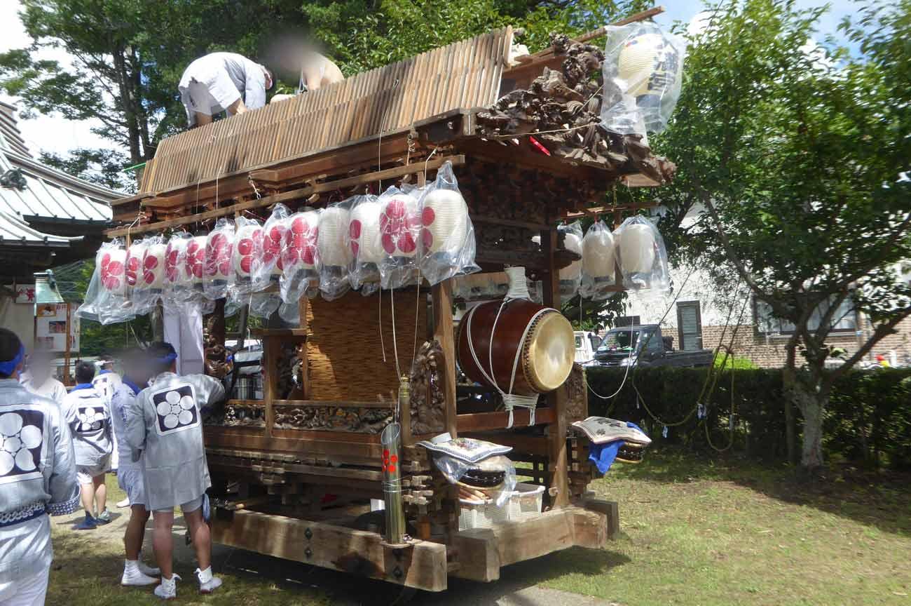 天満神社の屋台(側面)