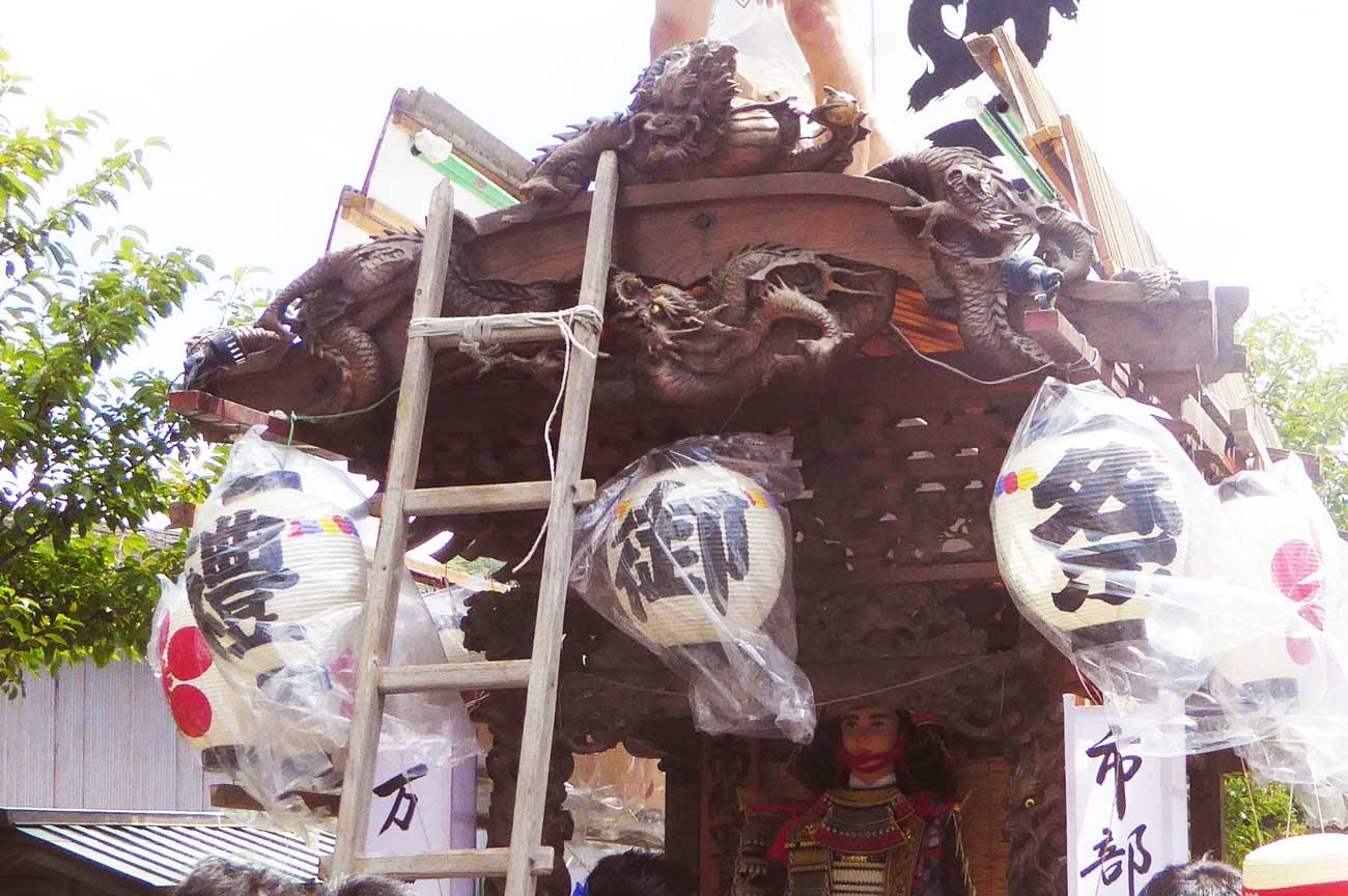 天満神社の屋台(正面)