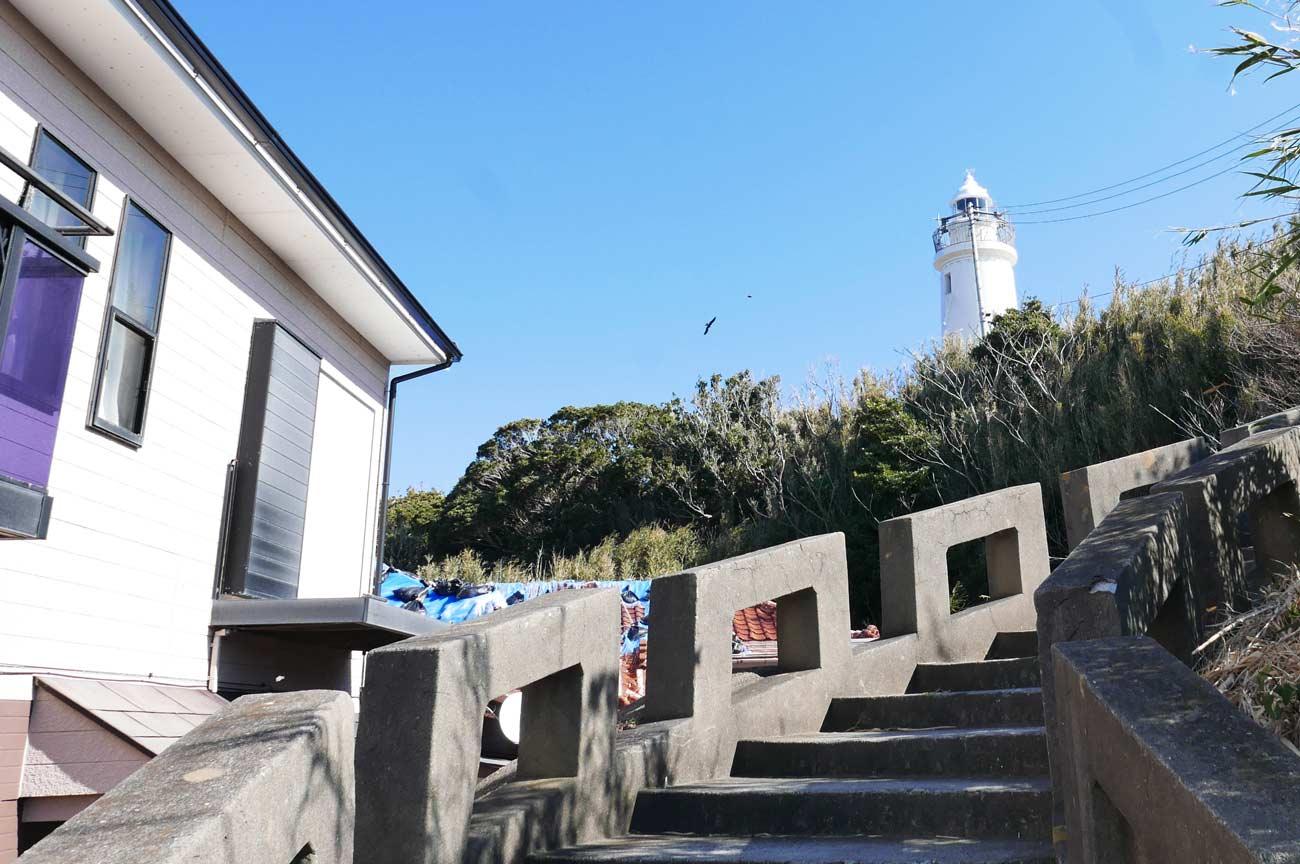 洲崎灯台への階段
