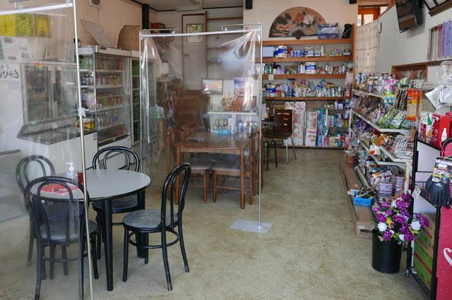 森田商店のイートインスペース