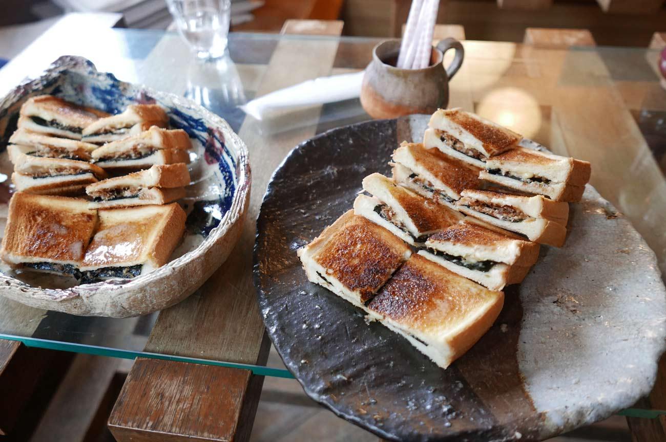 名物の磯トースト