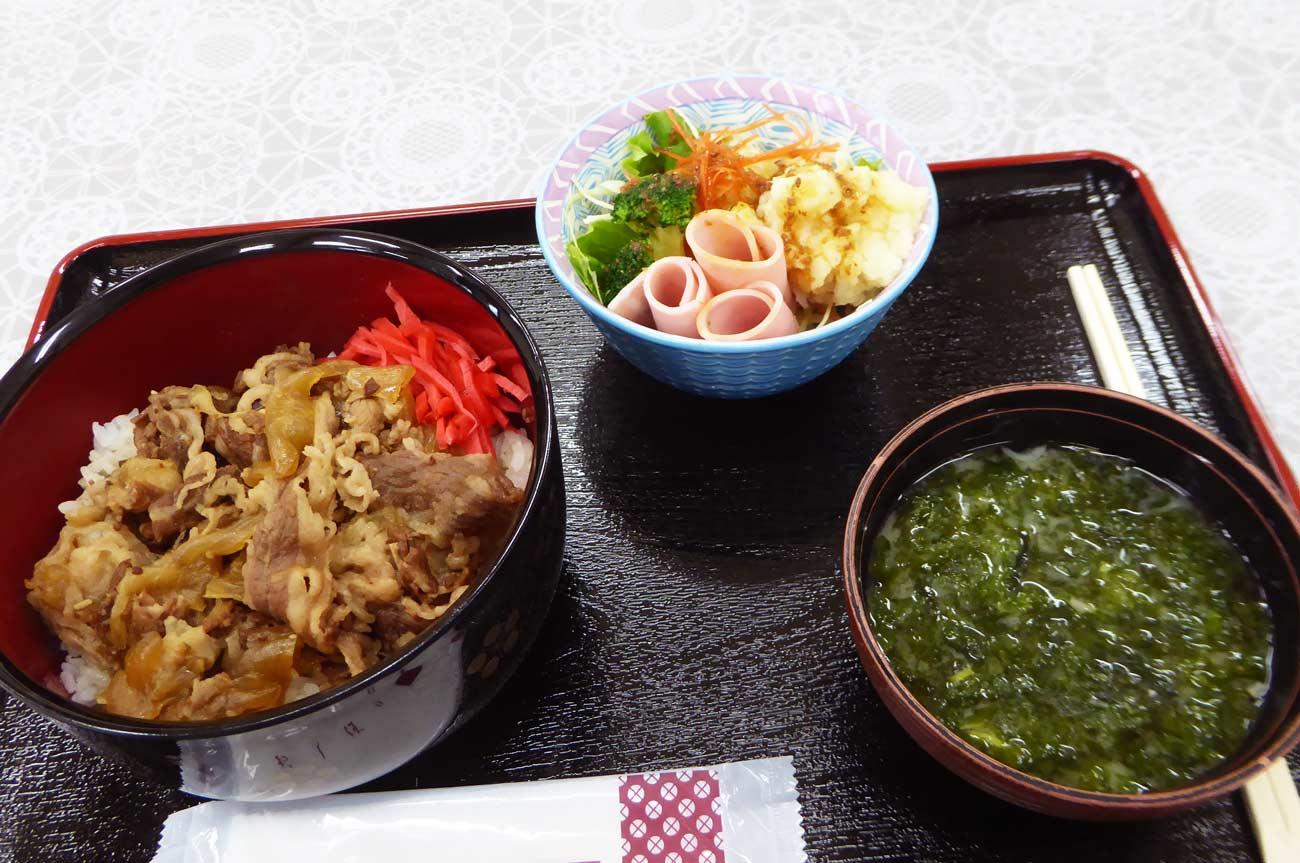 魚赤の牛丼定食