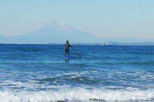 豊岡海岸の富士山