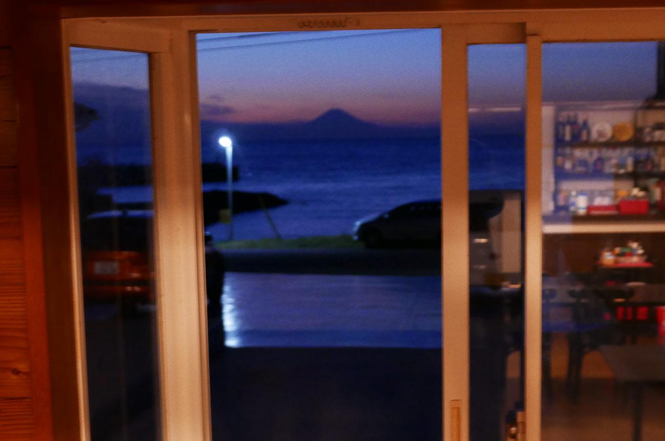食堂から見る富士山
