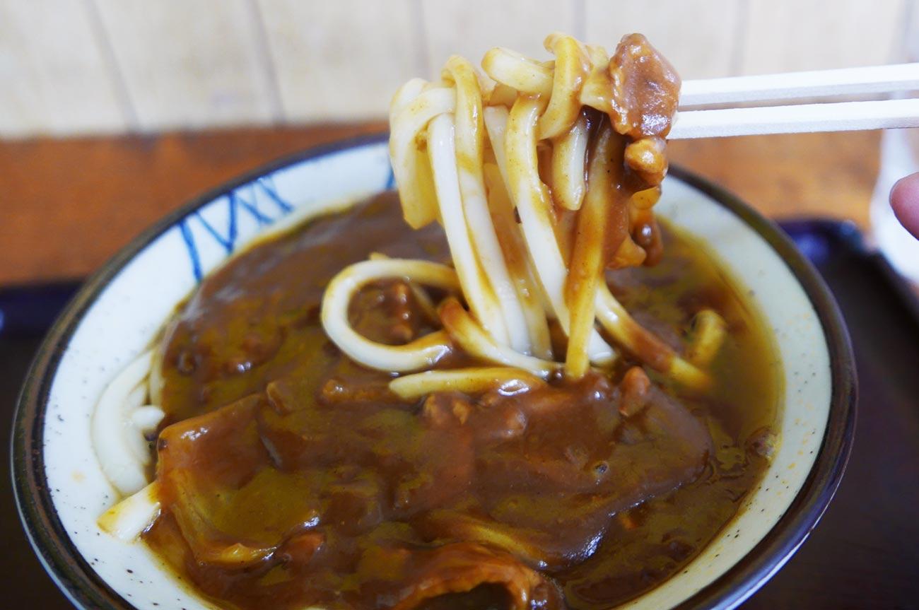 カレーうどんの麺