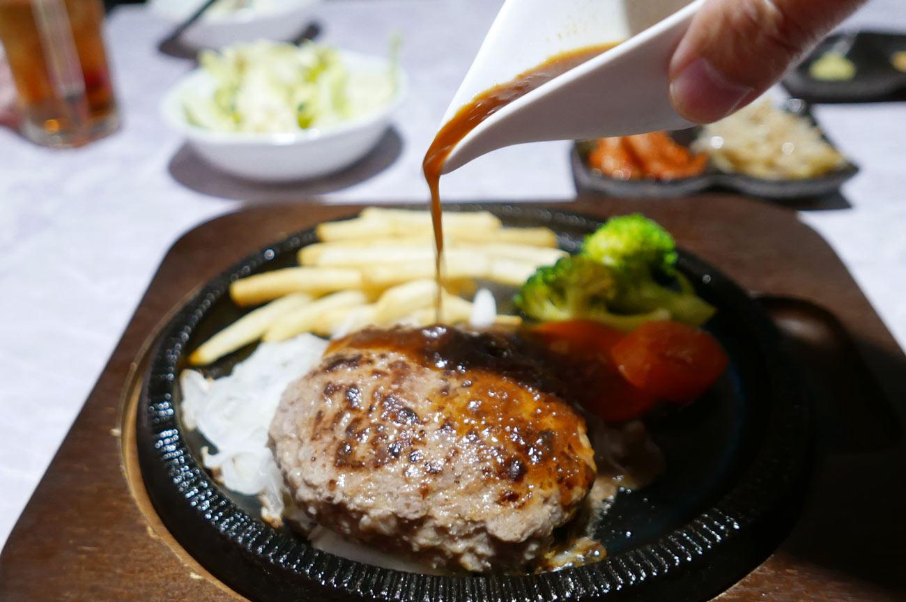 肉バルRossoのハンバーグステーキ