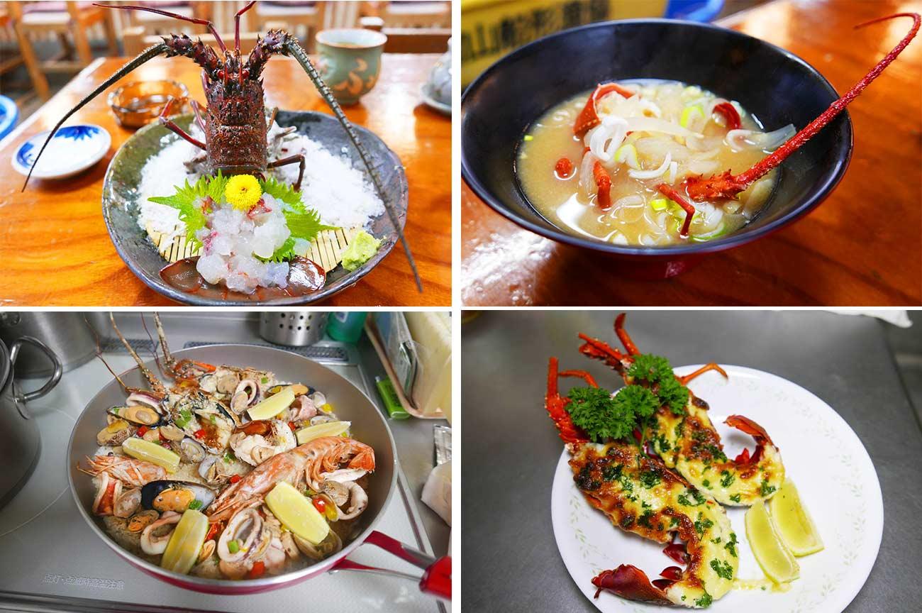 伊勢海老料理4種類