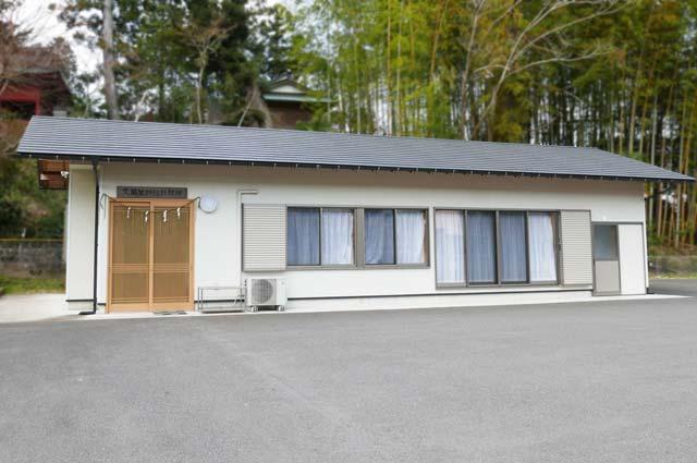 久留里神社の社務所と駐車場