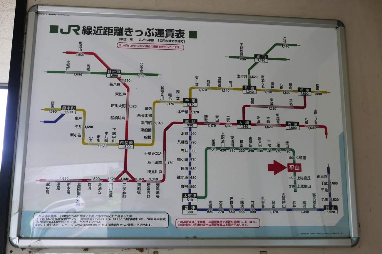 久留里線の路線図