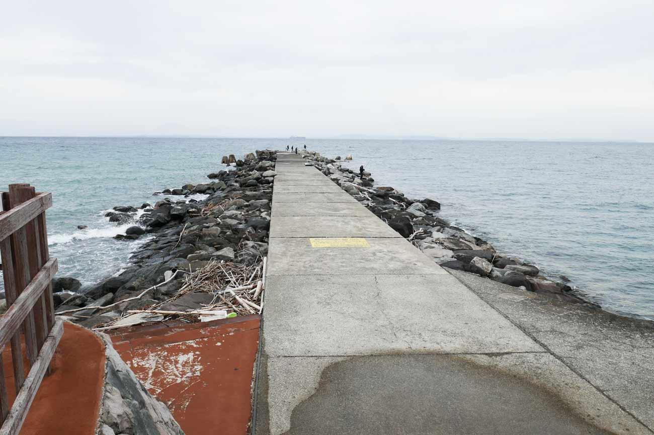 竜ケ崎新堤防の入口