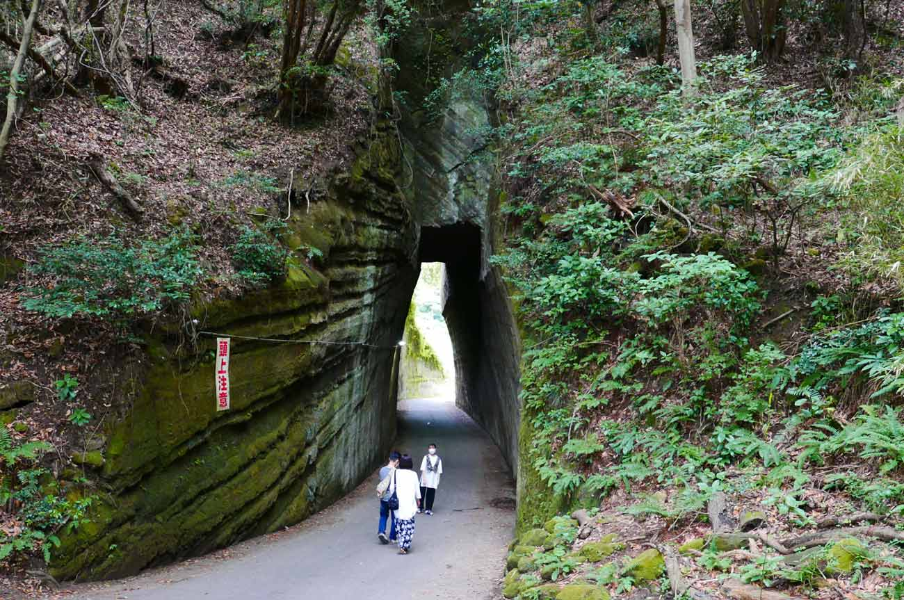 燈籠坂大師トンネルの入り口