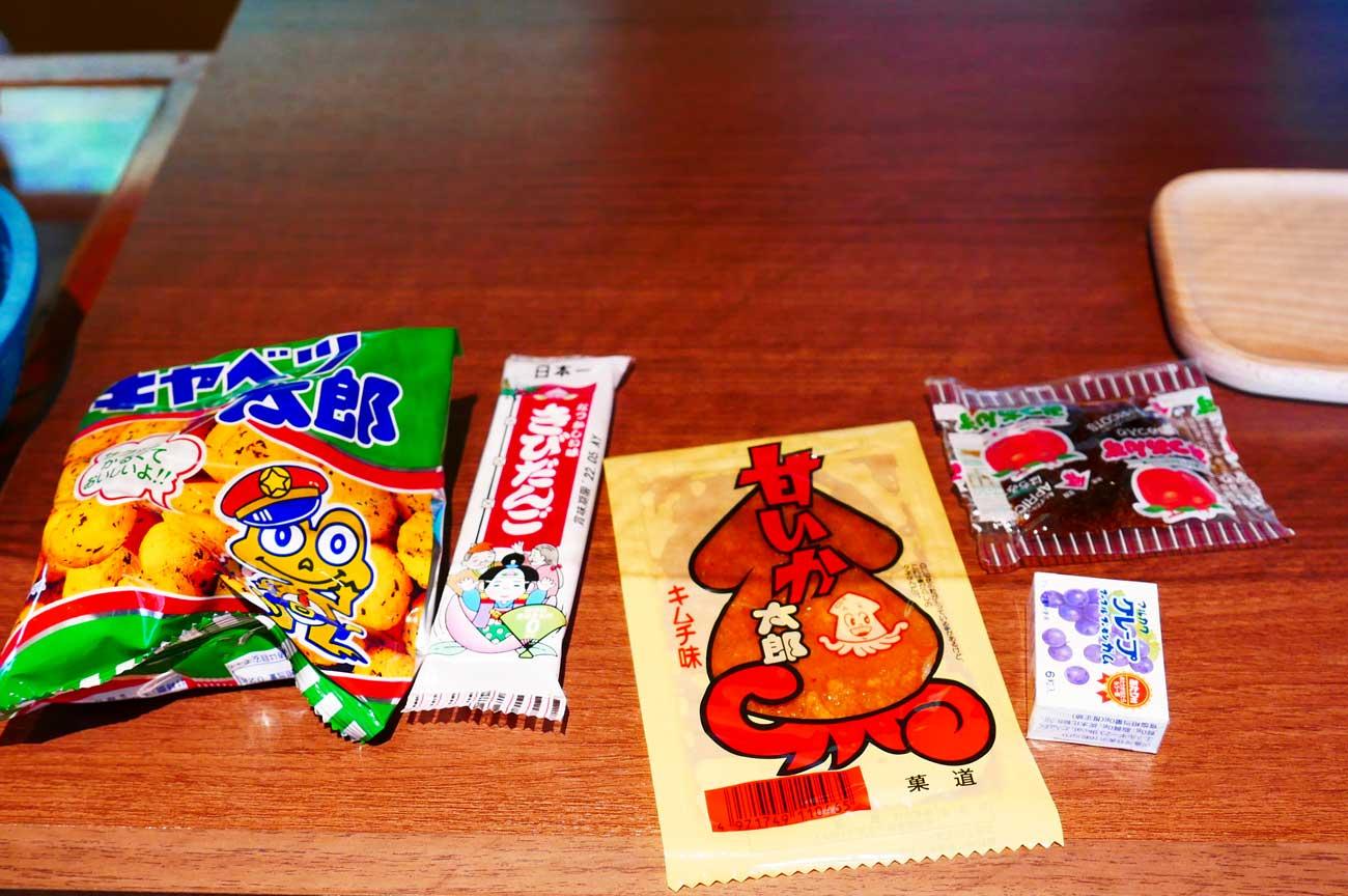 キャベツ太郎、甘いか太郎(キムチ味)