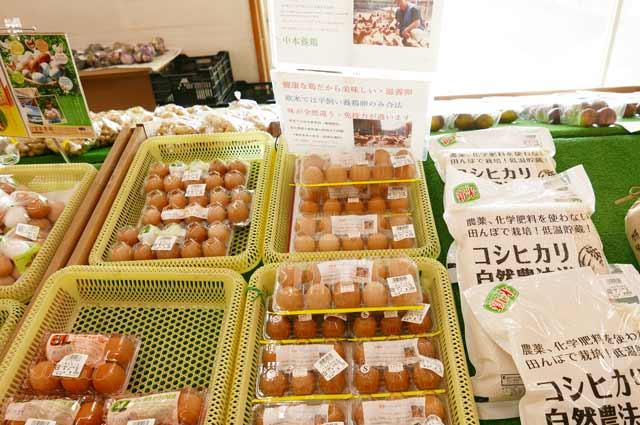中本養鶏の卵と自然農法のコシヒカリ